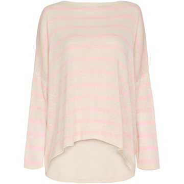 Marta du Chateau DS21155 Fuxia Stripe Light Pink/ Offwhite