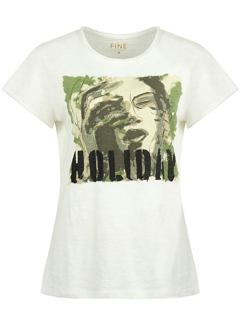 Fine Copenhagen Lyon Army Holiday - White 21095 T-shirt