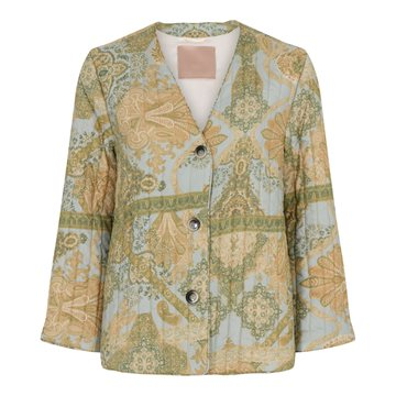 GUSTAV Holly quilt jacket Forest Moss w. Aqua 40202
