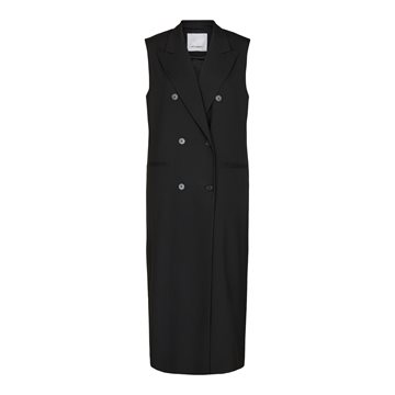 Co couture Elaine Long Vest Black 90153