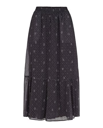 Co´Couture Paisley Night Gipsy Skirt - Sort nederdel