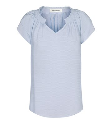 Co´Couture Sunrice Pauline Top - Pale Blue