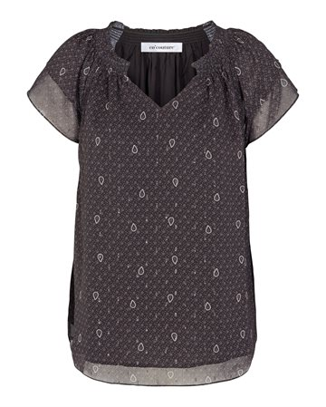 Co´ Couture Paisley Night Sunrise Top - Black
