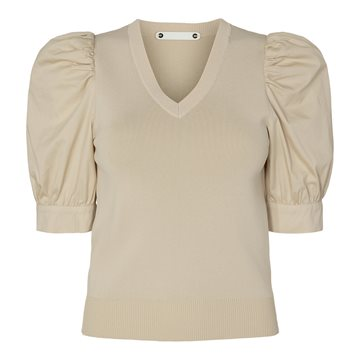 Co´ Couture Mercia V-Mix Top Mazipan 95591