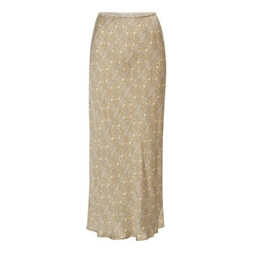 Eva Go Diva Aliyam Printed Skirt - Yellow