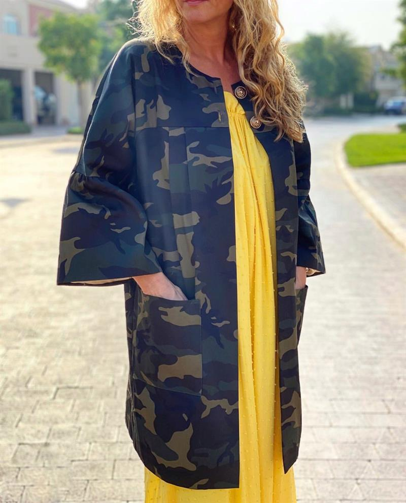 Design By Laerke Camouflage Cape