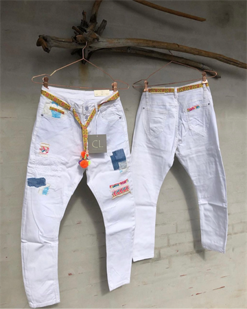 Cabana Living DY-751 Pant  PATCH Denim White jeans