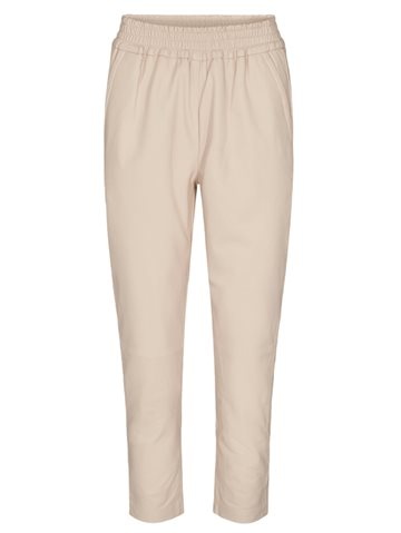 Co' Couture Shiloh Crop Leather Pant | Off-white | Læder bukser 91155
