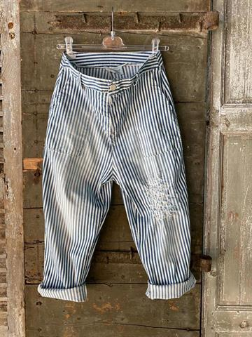BANDITAS Borgos Pant - Stripe baggy pant with patch.