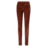 DEPECHE RUSKIND PLAIN LEGGING WITH ZIP AT TOP SMOKED PAPRIKA